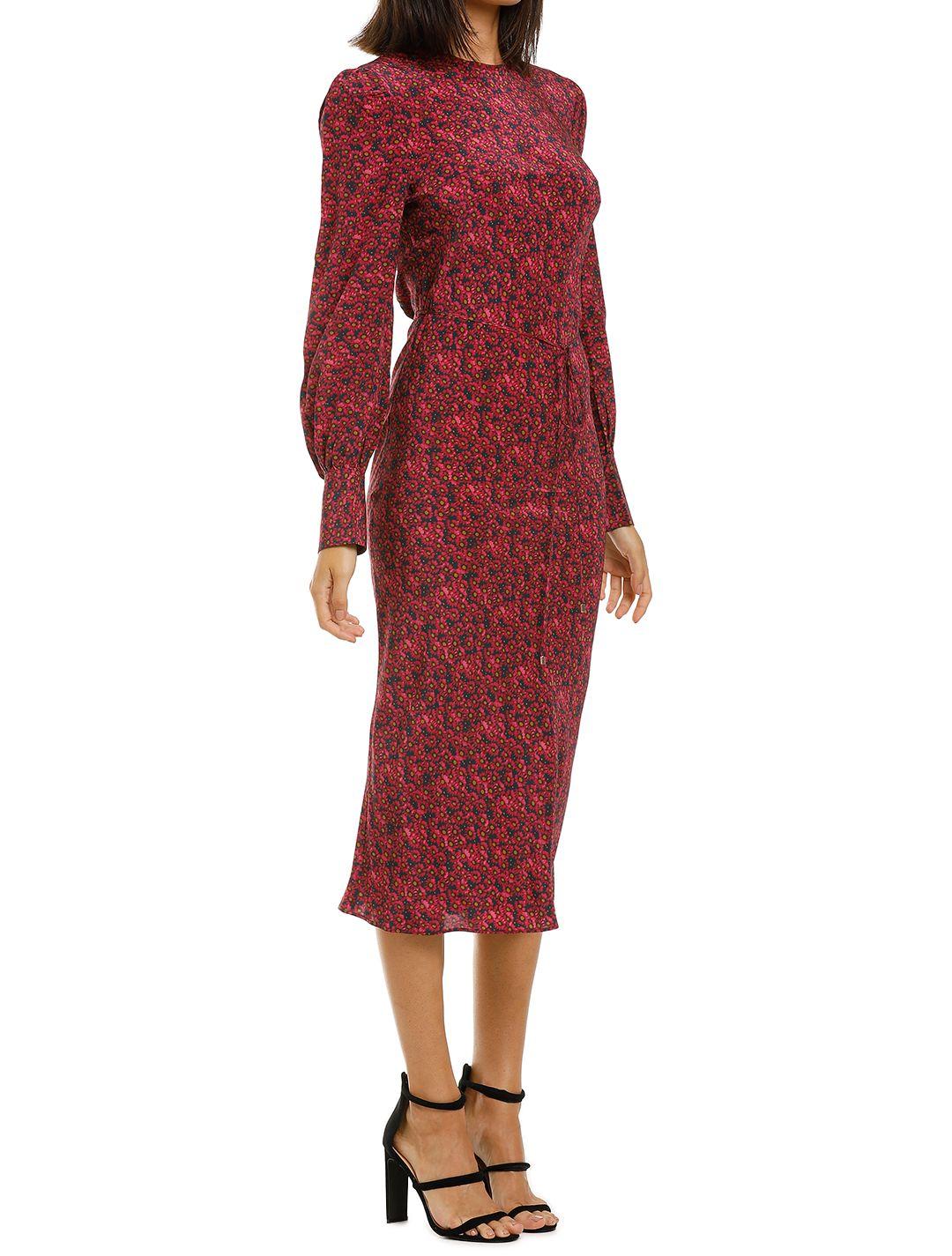 Rebecca-Vallance-Rosetter-LS-Midi-Dress-Berry-Floral-Side