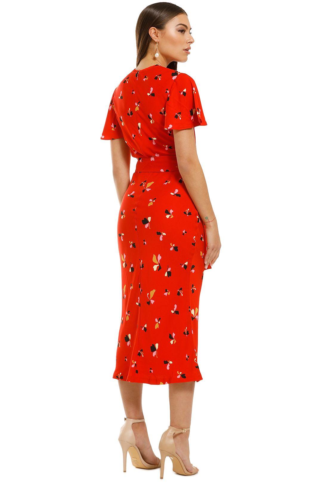 Rebecca-Vallance-Ruby-SS-Midi-Dress-Red-Print-Back