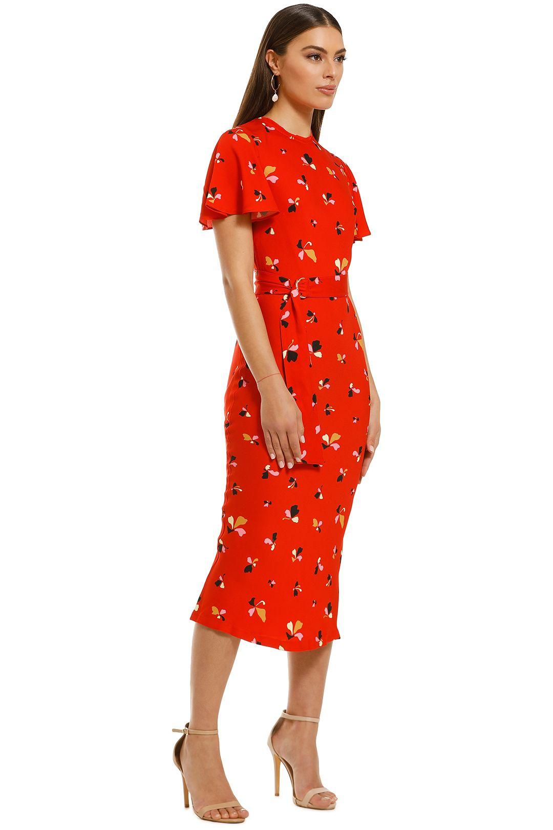Rebecca-Vallance-Ruby-SS-Midi-Dress-Red-Print-Side