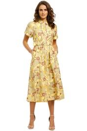 Rebecca-Vallance-Sahara-SS-Mid-Dress-Floral-Print-Front