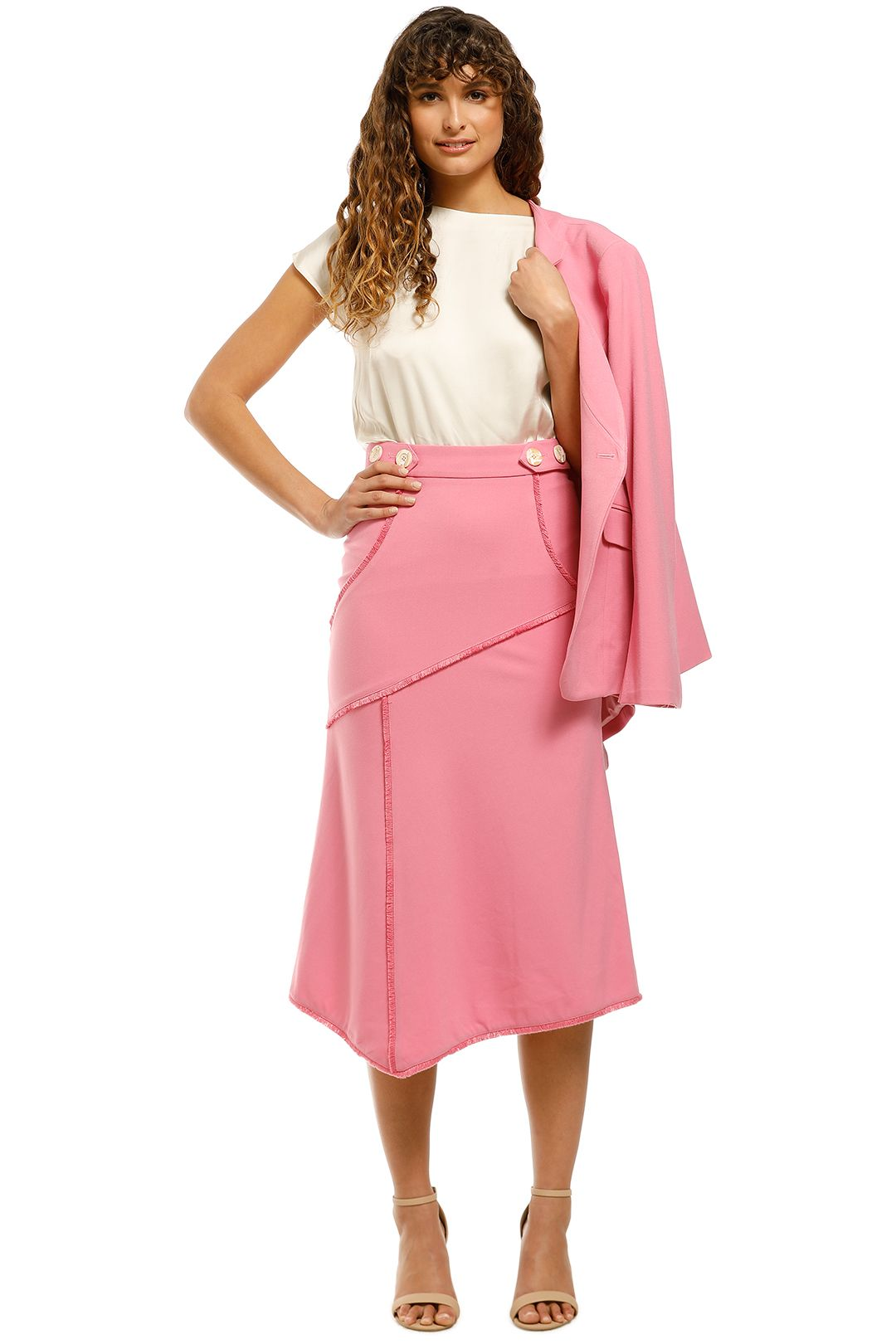 Rebecca-Vallance-Sienna-Skirt-Pink-Front