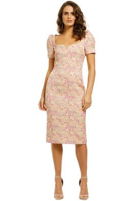 Rebecca-Vallance-Stella-Midi-Dress-Pink-Floral-Front