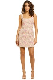 Rebecca-Vallance-Stella-Mini-Dress-Pink-Floral-Front