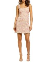 Rebecca-Vallance-Stella-Mini-Dress-Pink-Floral-Front