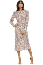 Rebecca-Vallance-Tigresse-LS-Midi-Dress-Boysenberry-Front