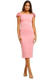 Rebecca-Vallance-Winslow-Midi-Dress-Pink-Front