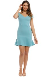 Rebecca Vallance - Anise Mini Dress - Blue - Front