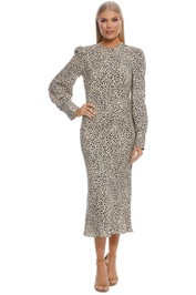 Rebecca Vallance - Anya Dress - Leopard Print - Front