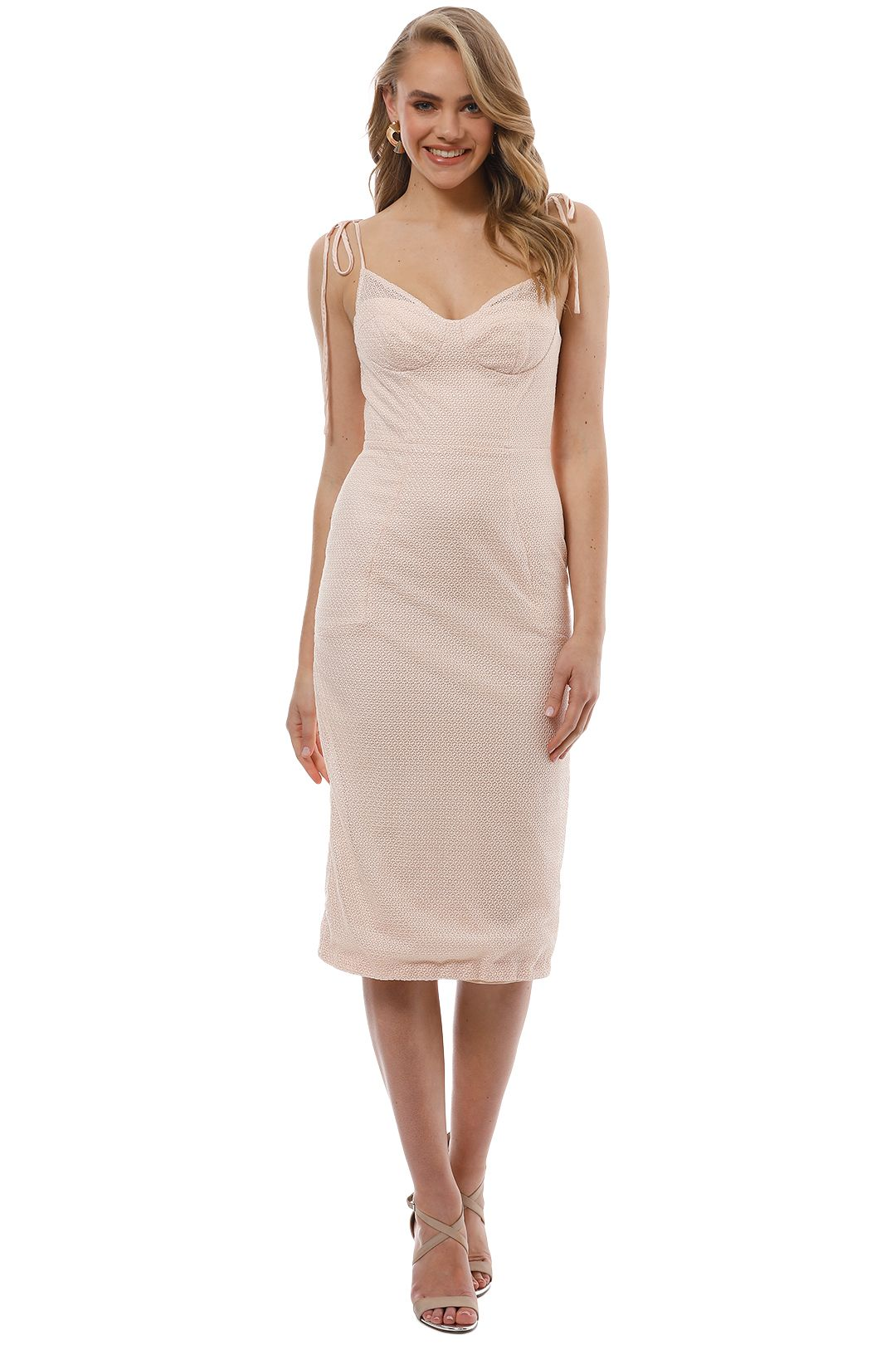 Rebecca Vallance - Avignon Dress - Nude - Front