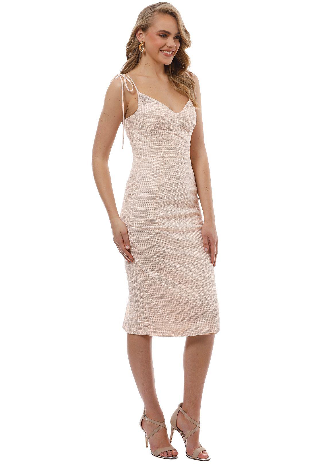 Rebecca Vallance - Avignon Dress - Nude - Side
