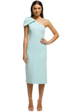 Rebecca Vallance - Carline One Shoulder Dress - Blue - Front