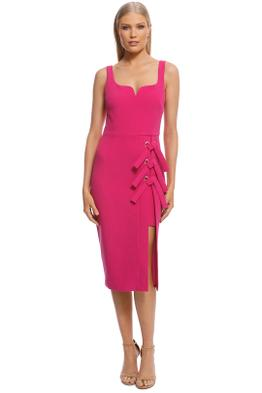 Rebecca Vallance - Delilah Dress - Fuschia - Front