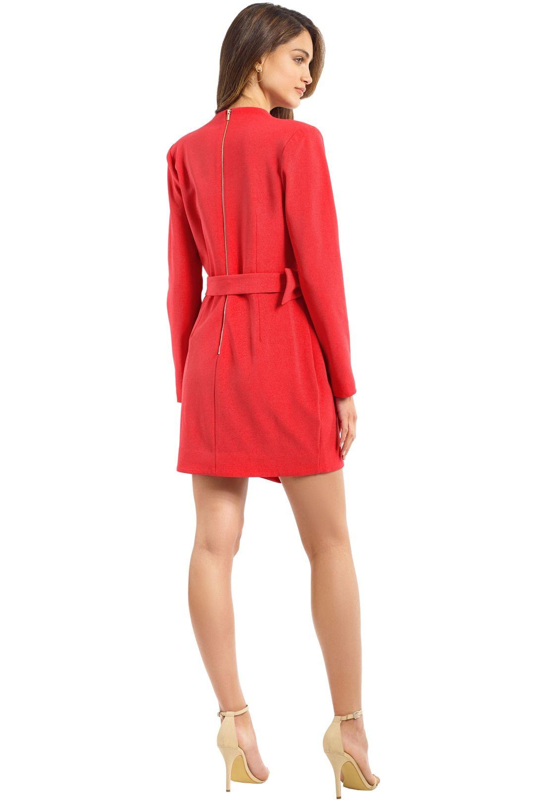 Rebecca Vallance - Domingo V LS Mini Dress - Calyspo - Back