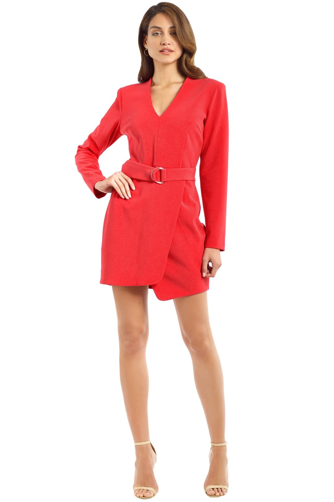Rebecca Vallance - Domingo V LS Mini Dress - Calyspo - Front