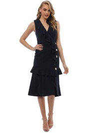 Rebecca Vallance - Femmes Midi Dress - Navy - Front