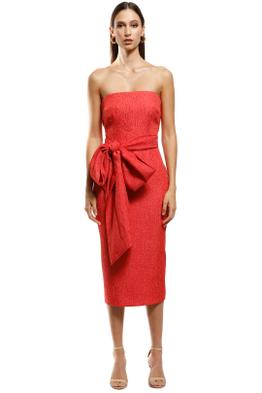 Rebecca Vallance - Francesca Tie Midi - Orange - Front