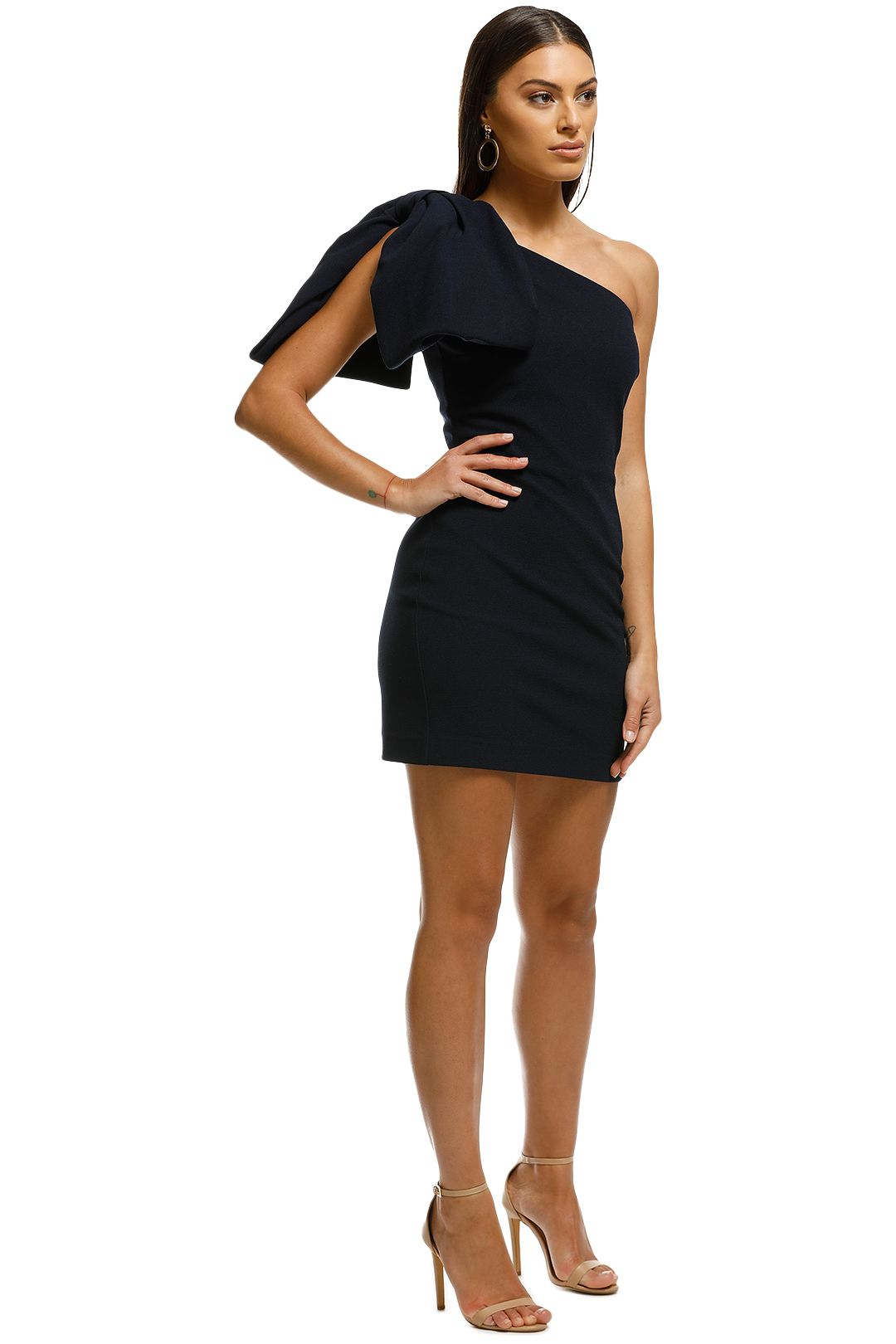 Rebecca Vallance - Hamptons Bow Mini Dress - Navy - Front