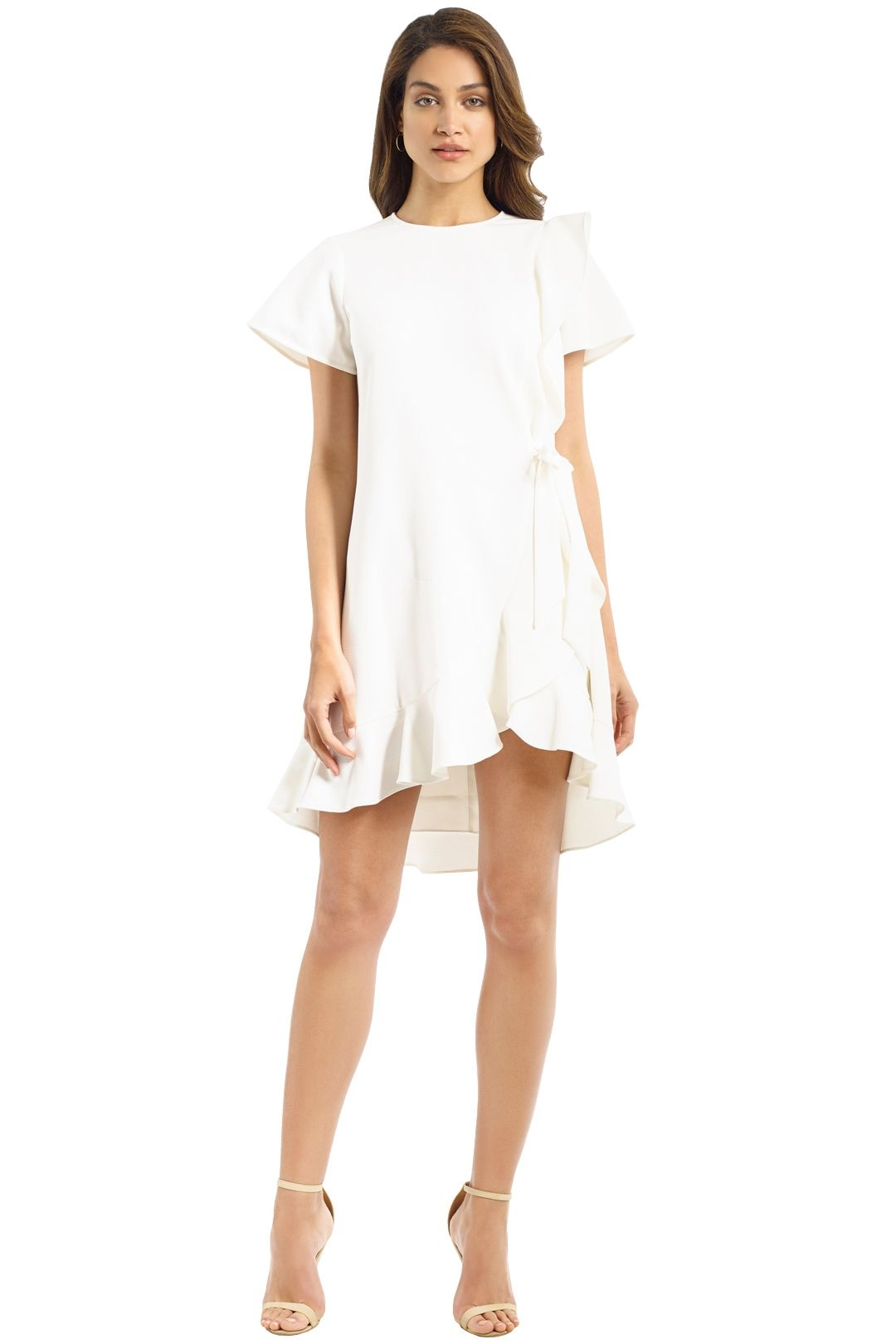 Rebecca Vallance - Hamptons Swing Ruffle Dress - Ivory - Front