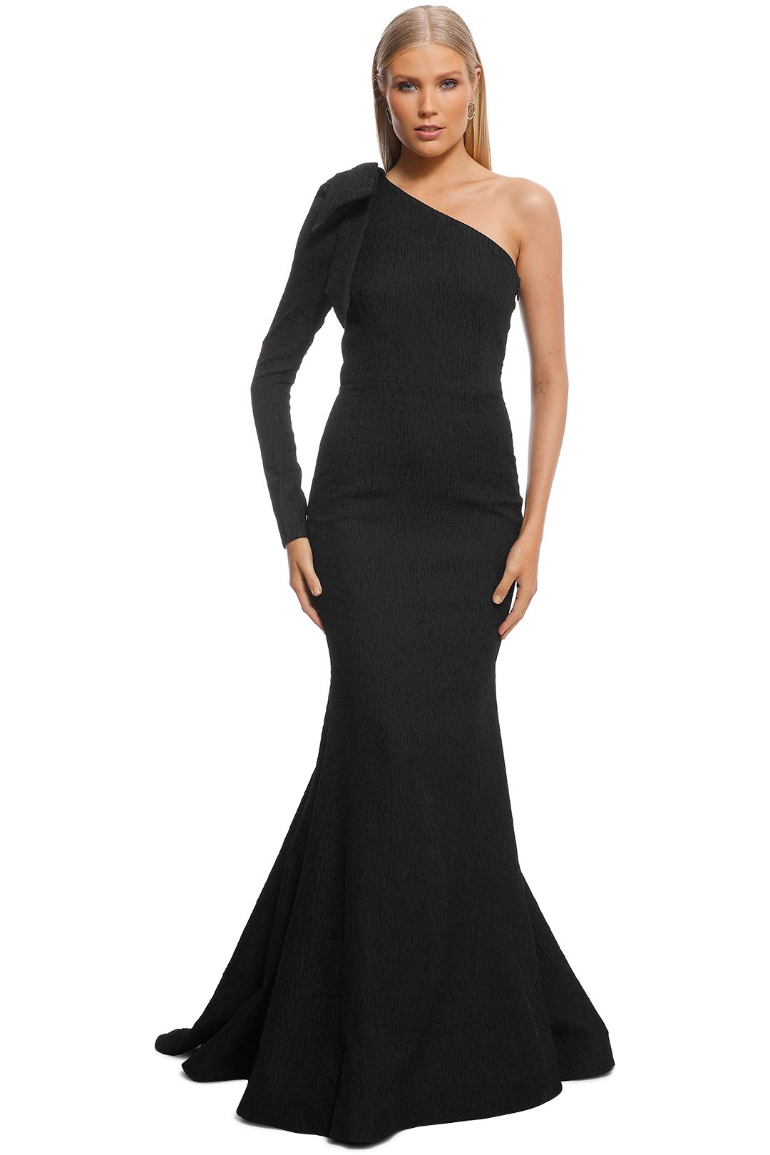 Rebecca Vallance - Harlow Bow Gown - Black - Front