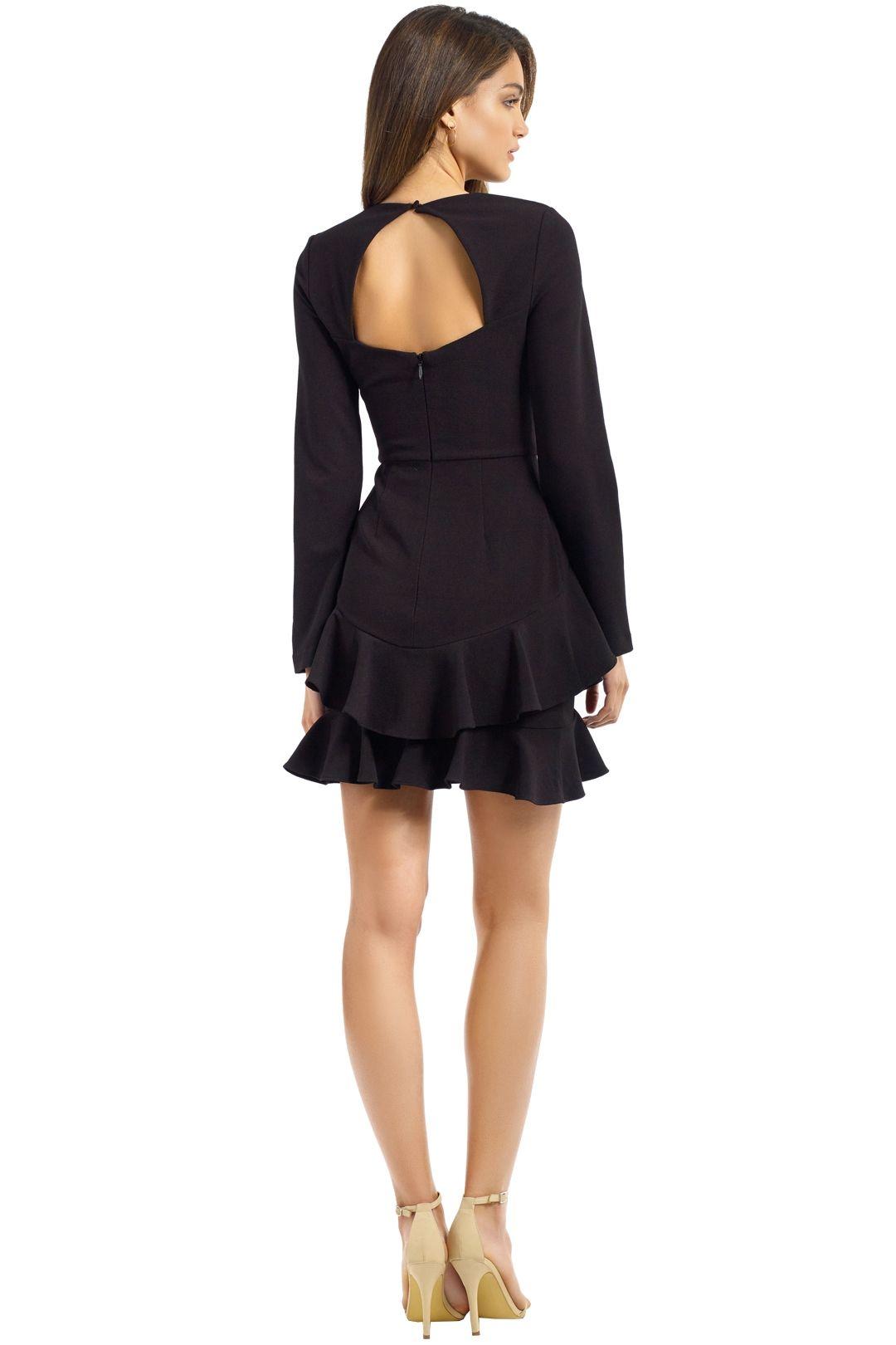 Rebecca Vallance - Havana LS Mini Dress - Black - Back