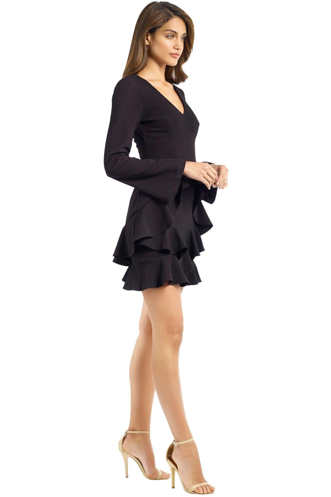 Rebecca Vallance - Havana LS Mini Dress - Black - Side
