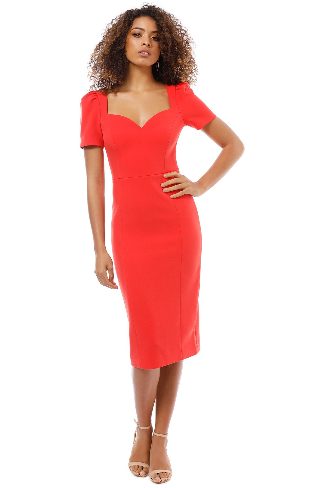 Rebecca Vallance - L'amour Dress - Red - Front