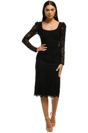 Rebecca Vallance - Le Saint Lace Dress - Black - Front