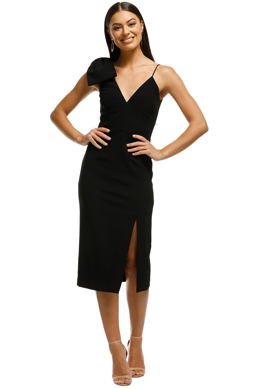Rebecca Vallance - Love Bow Dress - Black - Front