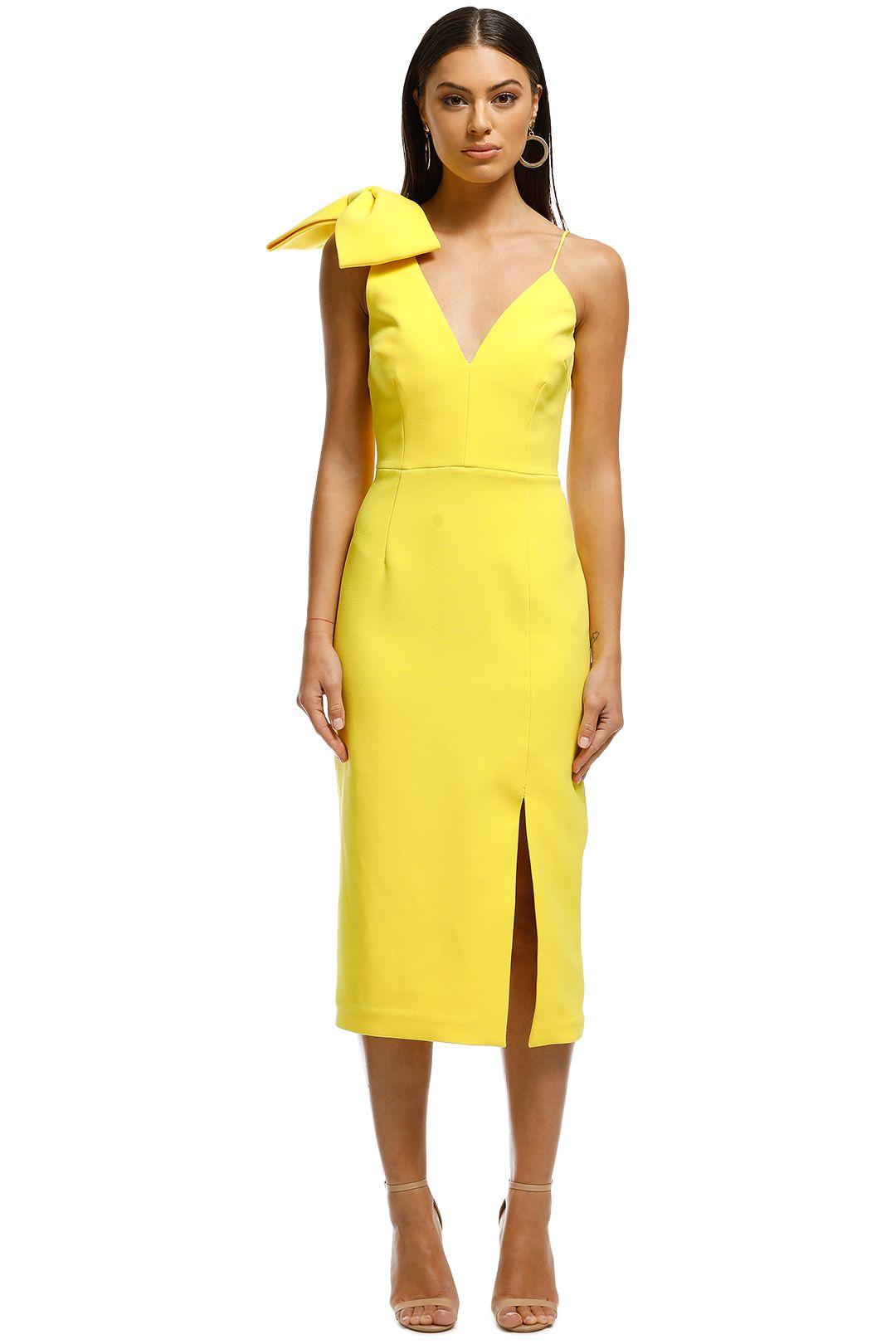 Rebecca Vallance - Love Bow Dress - Yellow - Front