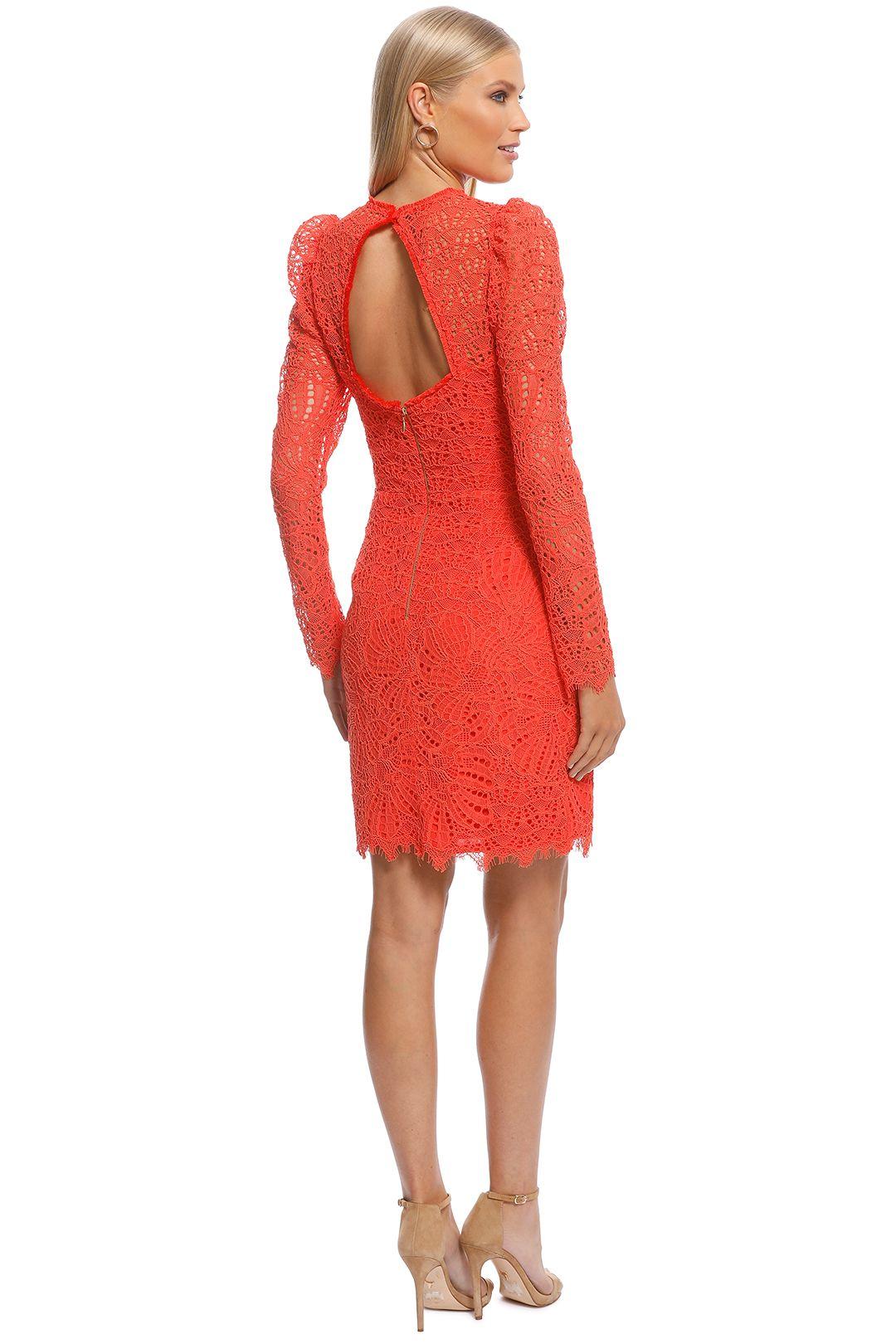 Rebecca Vallance - Mae Lace Mini Dress - Orange - Back