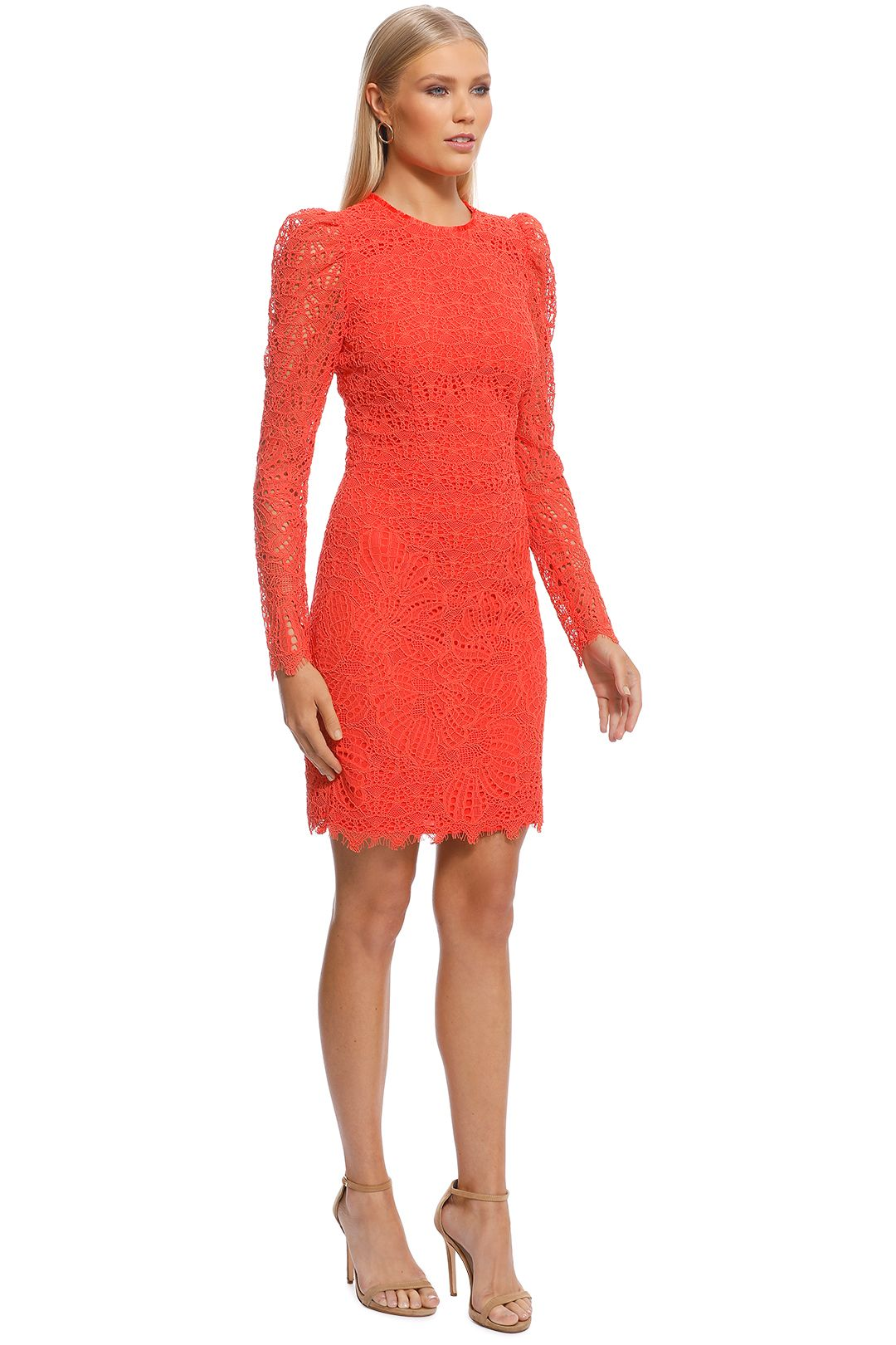 Rebecca Vallance - Mae Lace Mini Dress - Orange - Side