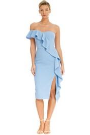 Rebecca Vallance - Monte Carlo Strapless Midi Dress - Blue - Front