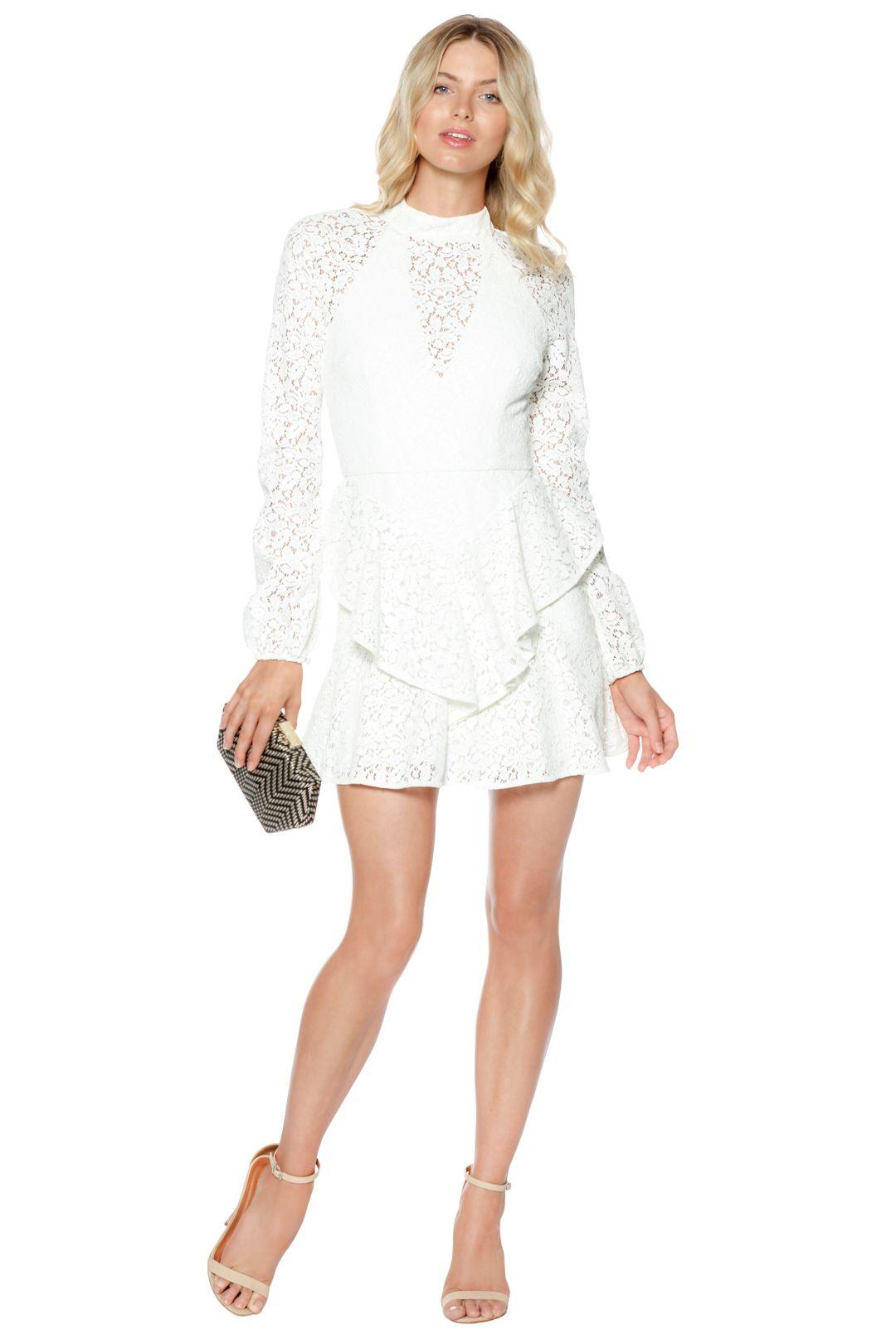 Rebecca Vallance - Sistine Frill Mini Dress - Front