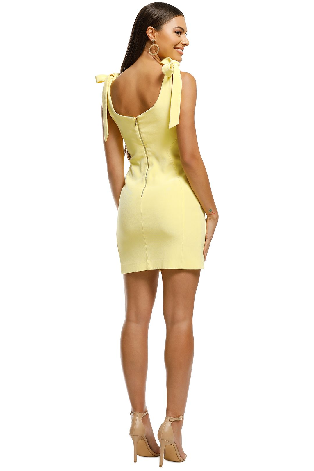 Rebecca Vallance - Zinnia Mini Dress - Yellow - Back