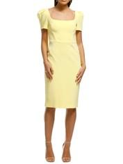 Rebecca Vallance - Zinnia Open Back Dress - Yellow - Front