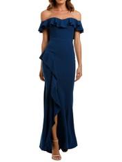 Rebecca Vallance Aegean Off Shoulder Gown