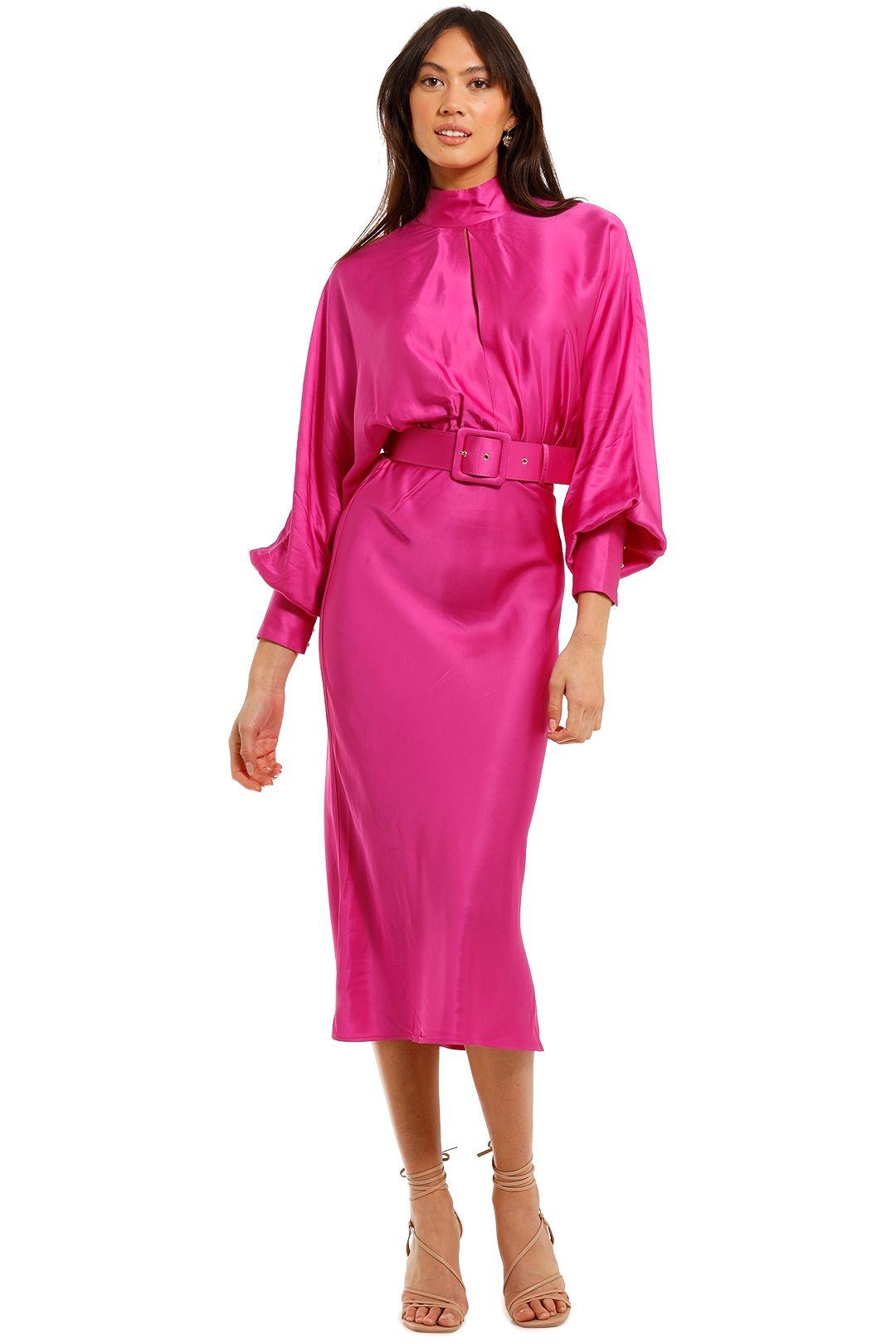 Rebecca Vallance Ameigo Midi Dress Magenta