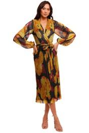 Rebecca Vallance Astoria Long Sleeve Midi abstract