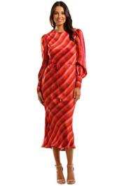 Rebecca Vallance Brinkley LS Midi Dress Satin