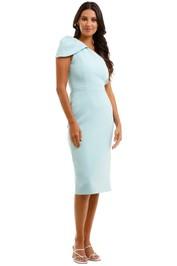 Rebecca Vallance Carline One Shoulder Dress Blue Pastel