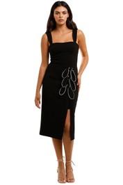 Rebecca Vallance Celeste Tie Midi Dress Black