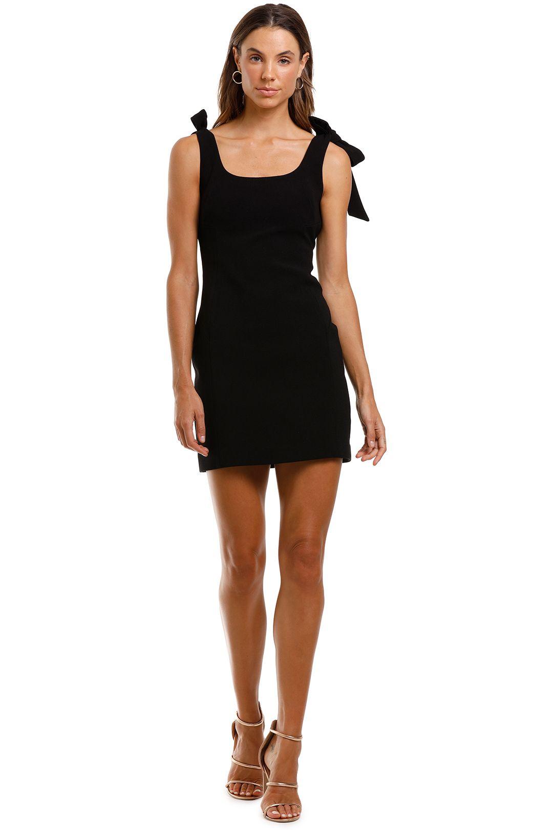 Rebecca Vallance Dahlia Mini Dress Black Tie Straps
