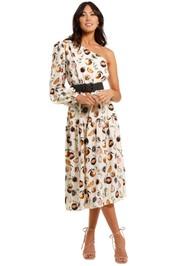 Rebecca Vallance Frutta One Shoulder Midi Dress tiered