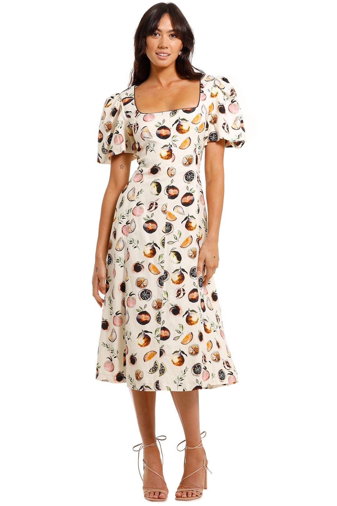 Rebecca Vallance Frutta Printed Midi Dress straight