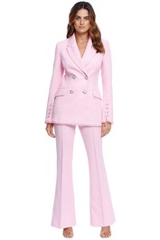 Rebecca Vallance Garance Jacket and Pant Set Pink