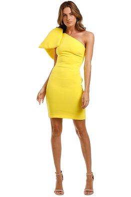 Rebecca Vallance - Hamptons Bow Mini Dress - Yellow