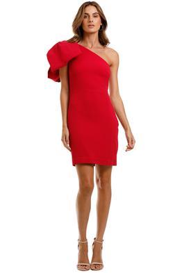 Rebecca Vallance Hamptons Mini Bow Dress Poppy Red