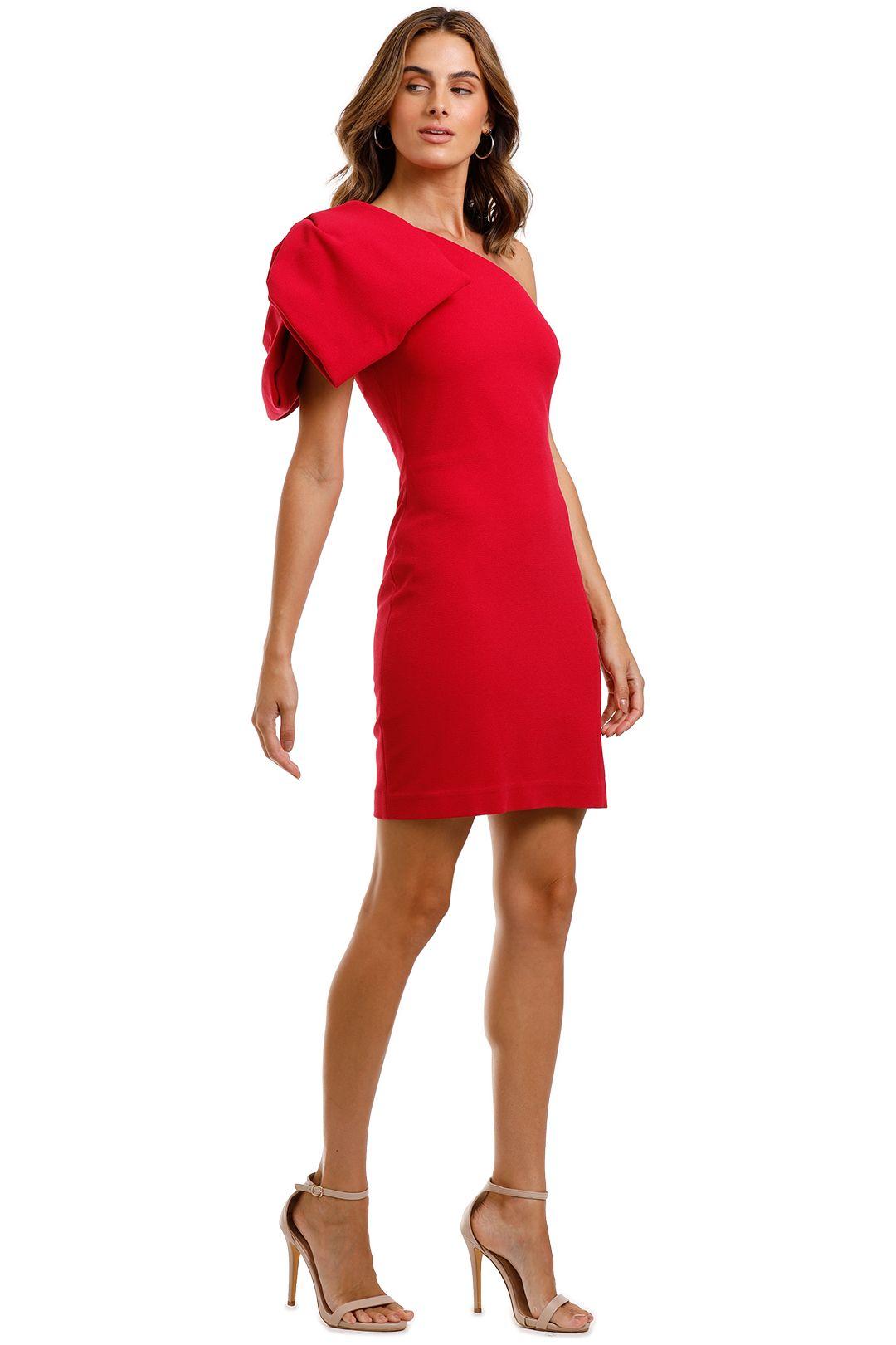 Rebecca Vallance Hamptons Mini Bow Dress Poppy Red Mini Length