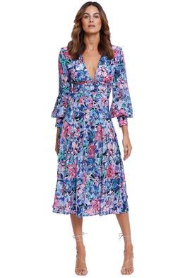 Rebecca Vallance La Violette Midi Dress Blue