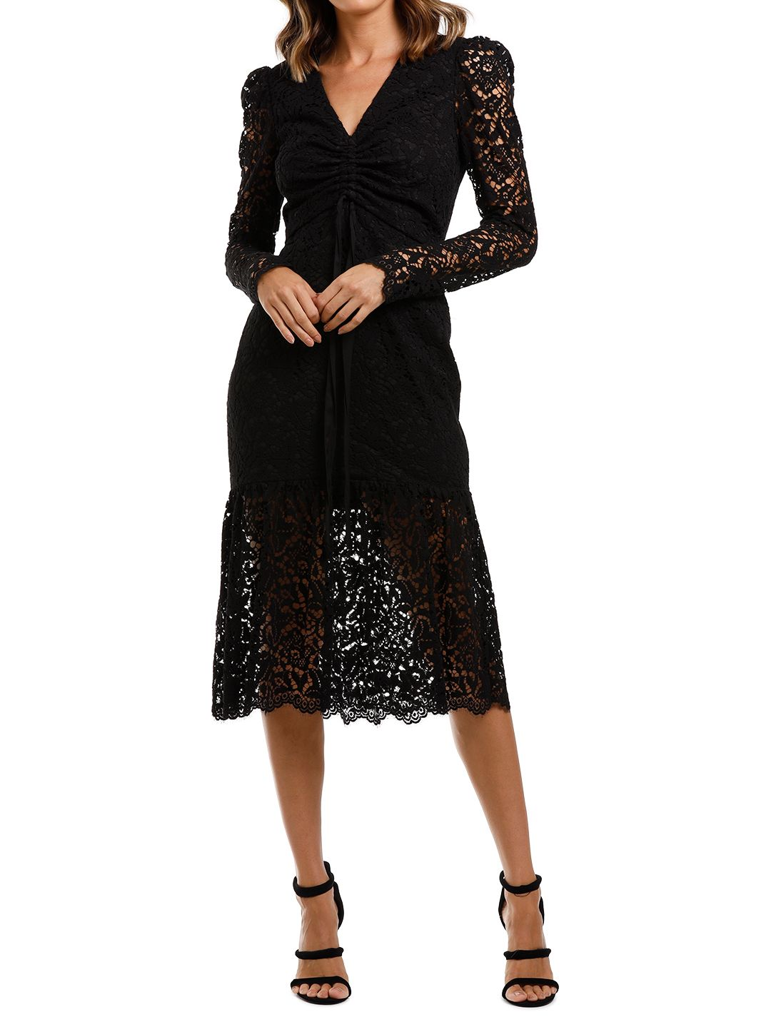 Rebecca Vallance Le Saint Ruched Dress Black